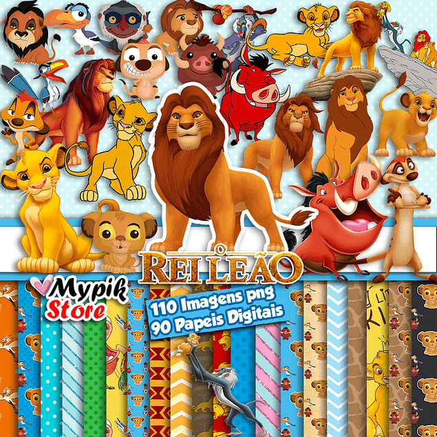 Kit digital Super Lion King - Scrapbook