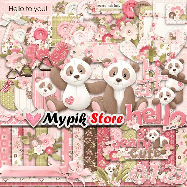 Kit de colección digital Panda Pink - 02