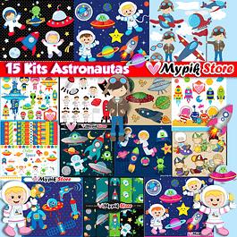 Super colección con 15 kits de astronautas digitales