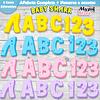 Kit Digital Alfabeto PNG Baby Shark
