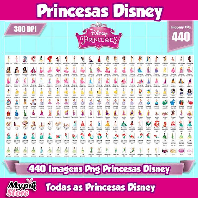 Todas las imágenes de princesas de Disney png