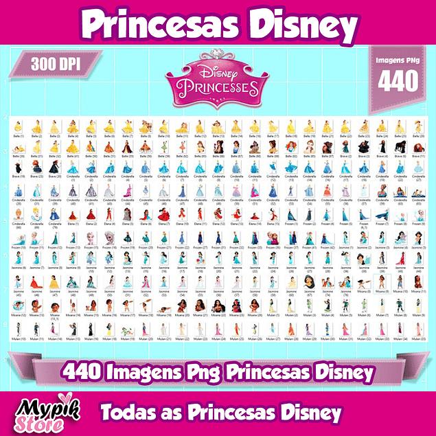 Todas as Princesas Disney Imagens png