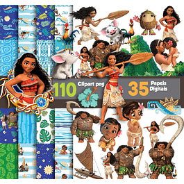 Super Kit Digital Moana Digital Imágenes y documentos
