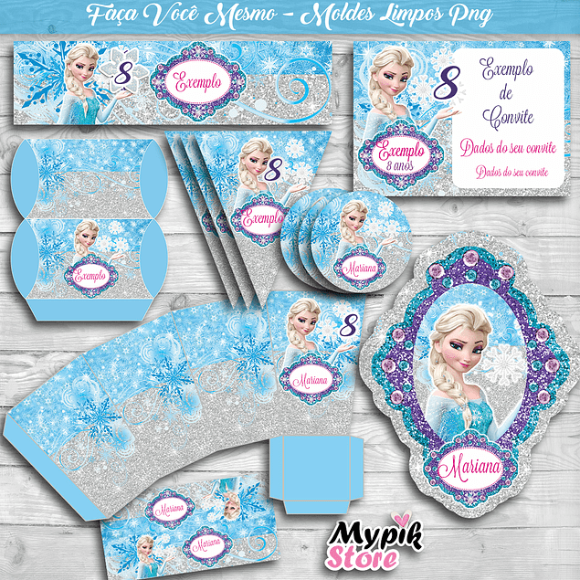 Kit Digital Moldes PNG Frozen - DY Hágalo Usted Mismo