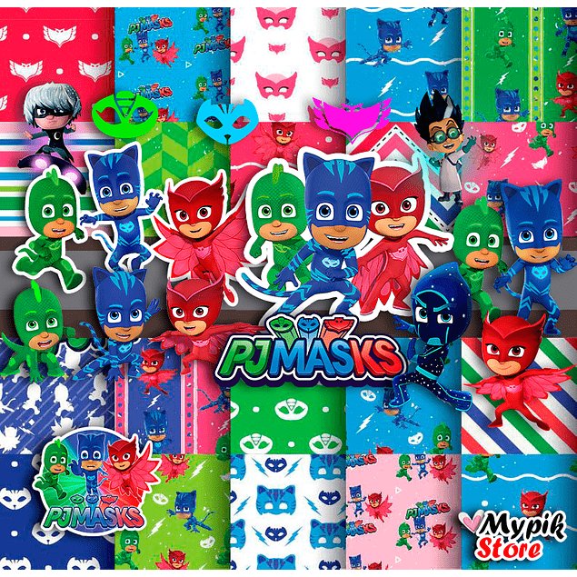 Super Kit Digital Pj Masks Imágenes digitales y documentos