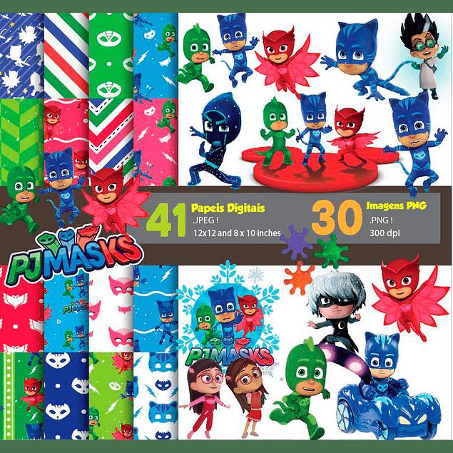 Super Kit Digital Pj Masks Imágenes digitales y documentos