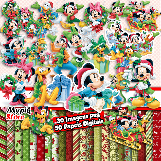 Mickey Christmas Digital Kit - Scrapbook