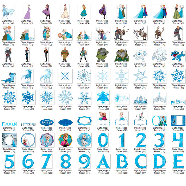 Kit Digital Frozen 2 - Cliparts
