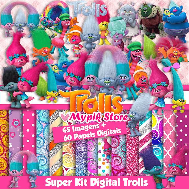 Kit Digital Trolls Coleção