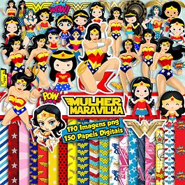 super Kit Digital Mulher Maravilha e Mulher Maravilha Baby