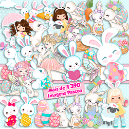 Super Pack Digital Easter Kit 1390 Imágenes