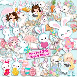 Kit de Pascua digital Super Pack 1390 Imágenes
