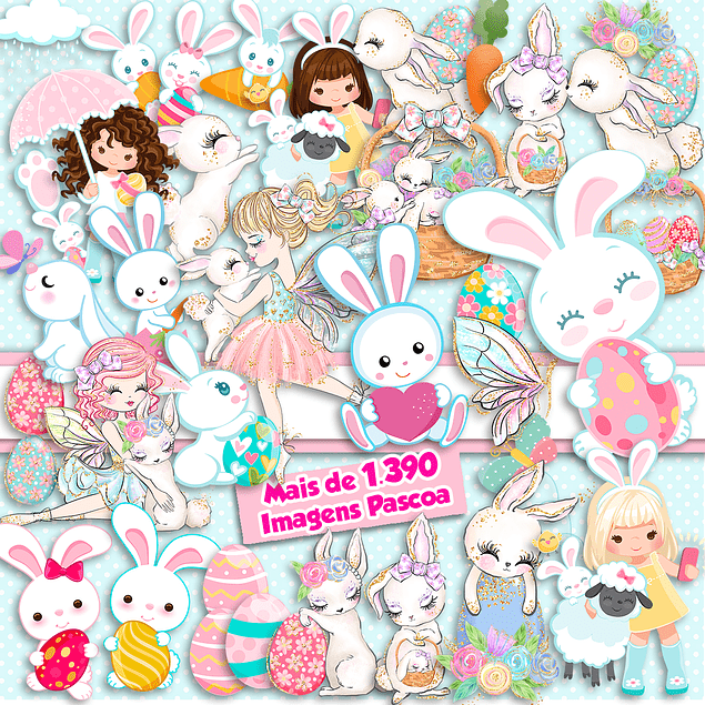 Super Pack Digital Easter Kit 1390 Imágenes