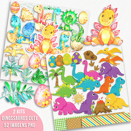 Kit Digital Dinossauros baby cute