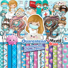 Kit Digital Quarentena - Scrapbook