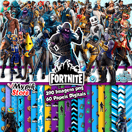 Super Kit Digital Fortnite - Scrapbook