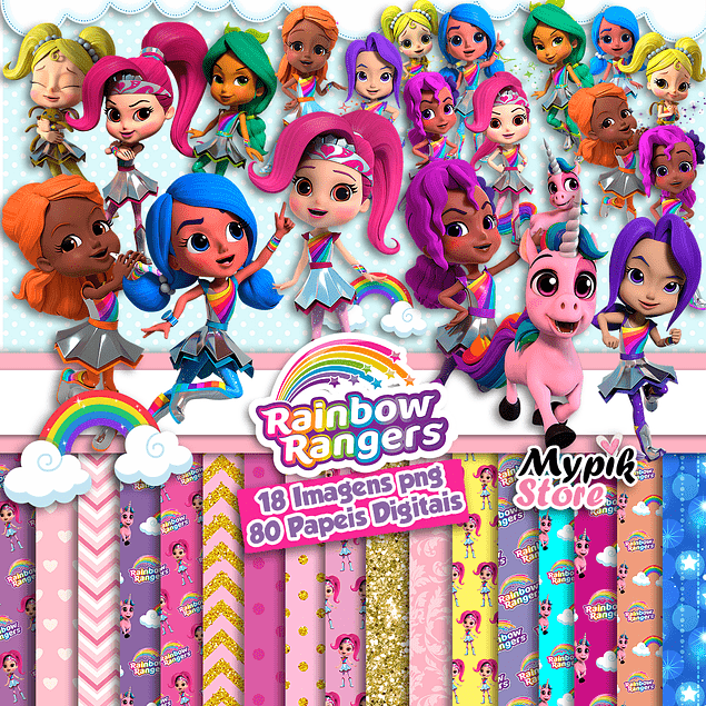 Kit digital Rainbow Rangers