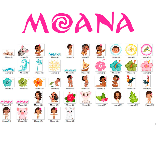 Moana Baby Kit digital