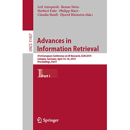 Advances in Information Retrieval: 41st European Conference on IR Research, ECIR 2019, Cologne, Germany, April 14–18, 2019, Proceedings, Part I