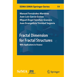 Fractal Dimension for Fractal Structures: With Applications to Finance
