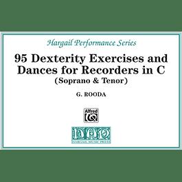 95 Dexterity Exercises and Dances for Recorders in C (Soprano & Tenor)