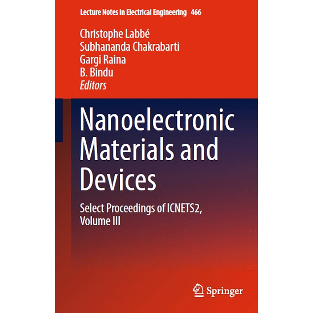 Nanoelectronic Materials and Devices: Select Proceedings of ICNETS2, Volume III