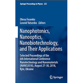 Nanophotonics, Nanooptics, Nanobiotechnology, and Their Applications
