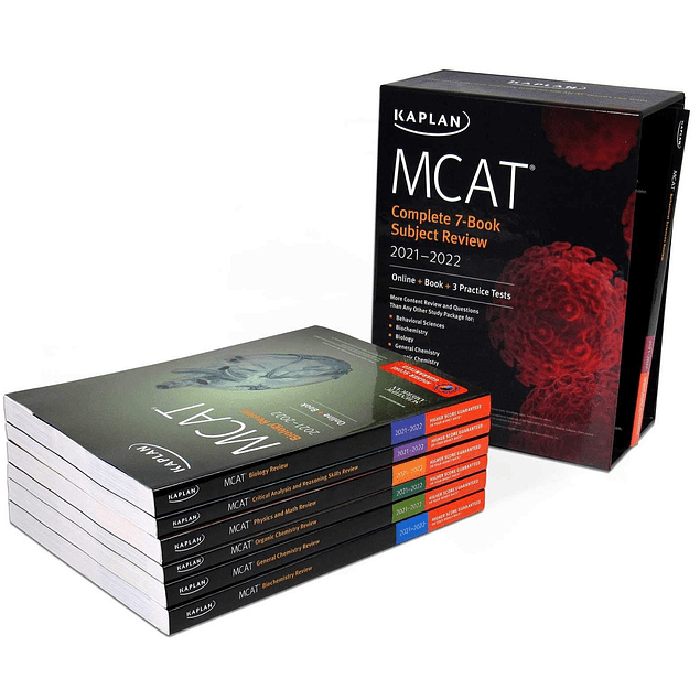 MCAT Complete 7-Book Subject Review 2021-2022  by Kaplan Test Prep (Author) ISBN-10: 1506262368 ISBN-13: 978-1506262369