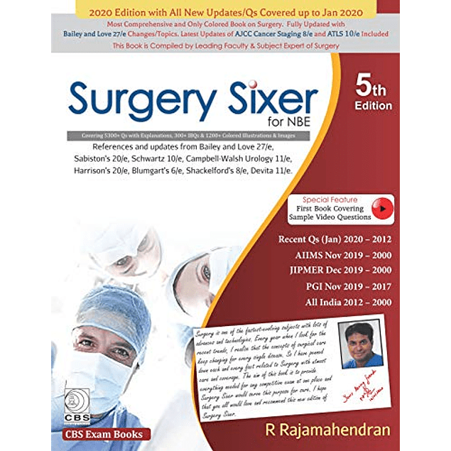 Surgery Sixer for NBE  by R Rajamahendran (Author)  ASIN: B0876WXWSL