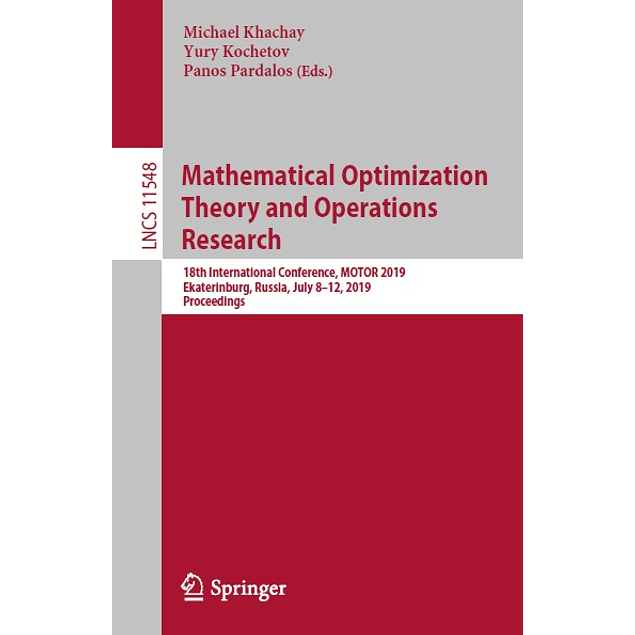 Mathematical Optimization Theory and Operations Research