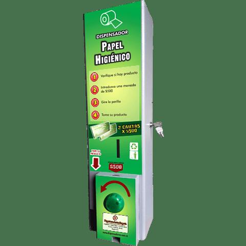 Dispensador papel higiénico monedero de 500