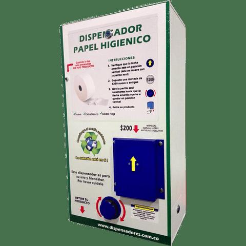 Dispensador papel higiénico monedero en comodato