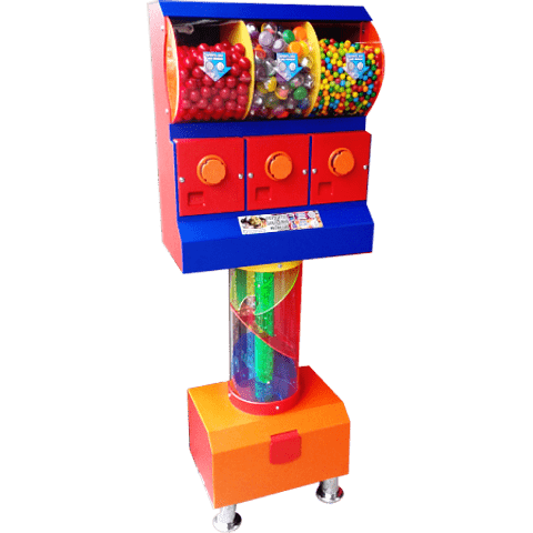 Dispensador de Chicles/Dulces con Tobogán x 3