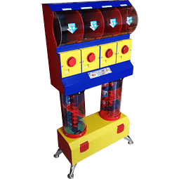 Dispensador de Chicles/Dulces con Tobogán x 4