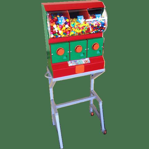 Dispensador de Chicles/Dulces con Base x 3