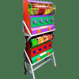 Dispensador de Chicles/Dulces con Base x 8