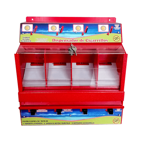 Dispensador cigarrillos con monedero x 4