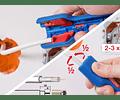 Pelador de Cable Coaxial Nº1 F Plus Para Conectores F De Rosca