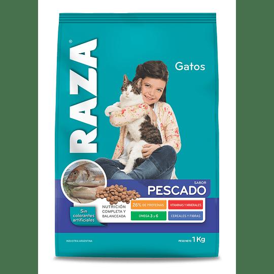 Alimento Gato Adulto Pescado Raza (8 x 1 KG)