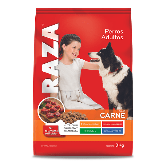 Alimento Perro Adulto Carne Raza (3 x 3 KG)