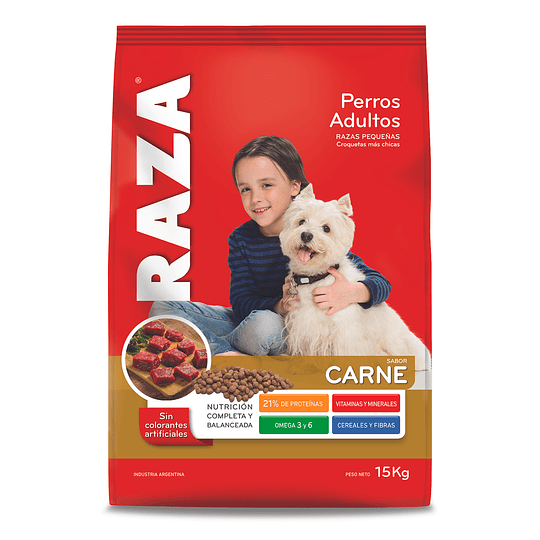 Alimento Perro Adulto Razas Pequeñas Carne Raza 15 KG