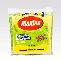 Paño Ultra Absorbente Manlac (10 x 3 UD)