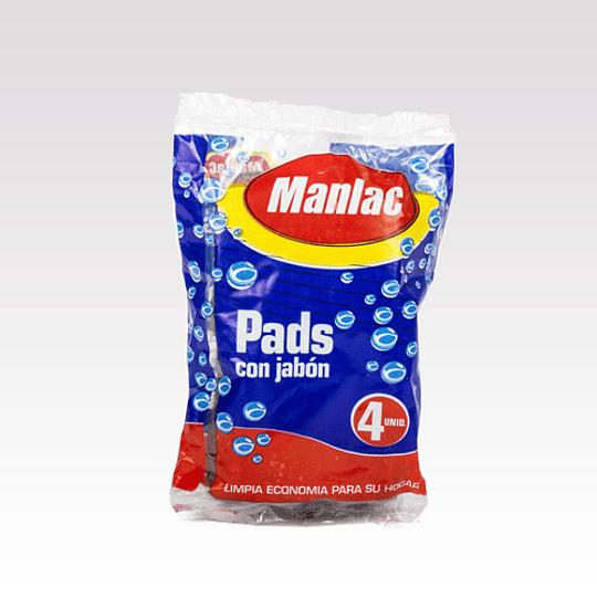 Pads Superlac Con Jabón Manlac (12 x 4 UD)