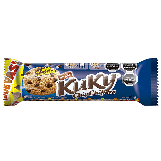 Galletas Kuky Chip Chipers (10 x 190 GR)