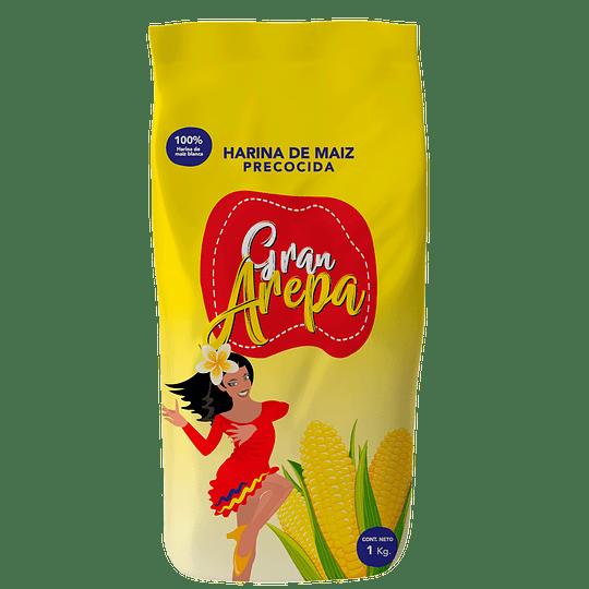 Harina de Maíz Blanca Gran Arepa (5 x 1 KG)