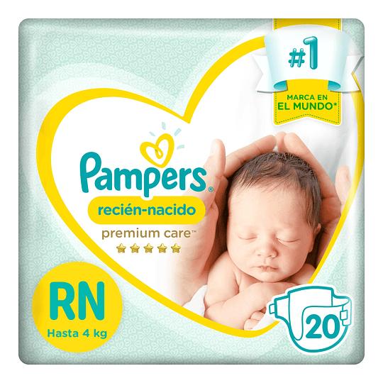 Pañal Pampers Premium Care Recién Nacido 60 UD