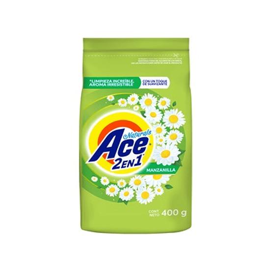 Detergente Ace Naturals con Suavizante (9 x 400 GR)