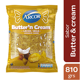 Caramelos Butter and Cream Arcor 810 GR