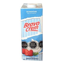 Crema Vegetal Chantillí Azucarada Bravo Tapa Rosca (6 x 1 LT)