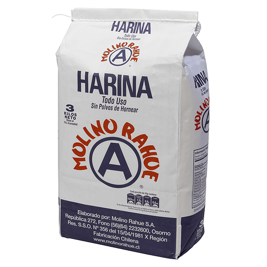 Harina Rahue Bolsa Papel 3 KG